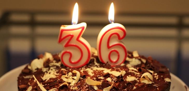 Поздравление с днём рождения на 36 лет
