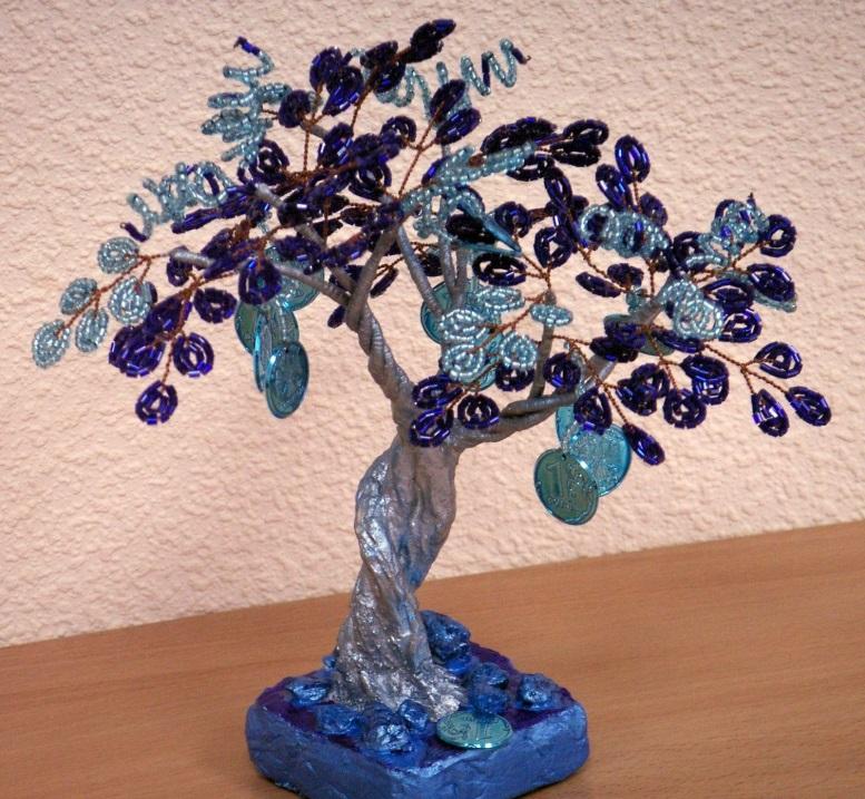 Денежное дерево бисером