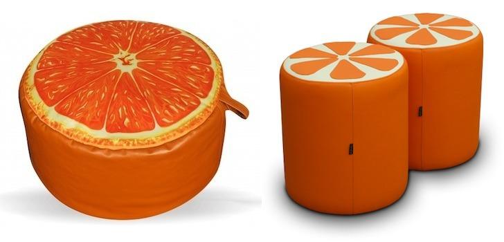 Пуфик в виде апельсина в подарок