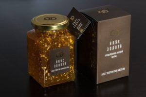 Мёд с золотыми крупинками