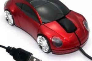 Компьютерная мышка в виде автомобиля