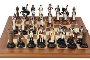 Шахматы из олова Бородинская битва