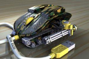 Компьютерная мышка в форме танка